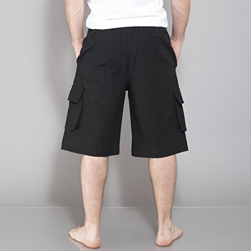 Mens-Eco-Hemp-Cotton-Cargo-Shorts
