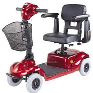 Four Wheel Mini Scooter, Burgundy