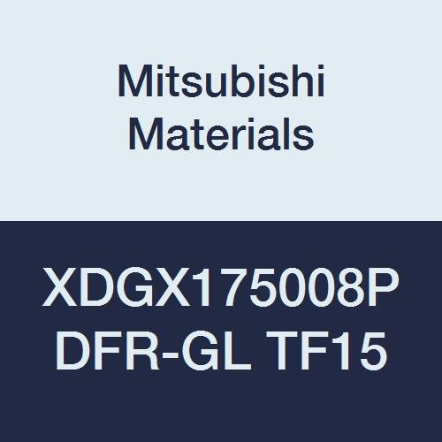 Mitsubishi Materials XDGX175008PDFR-GL TF15 XDGX Series Carbide Milling Insert, Uncoated, Class G, Sharp Honing, Special Design, Grade TF15, 0.031'' Corner Radius (Pack of 10)