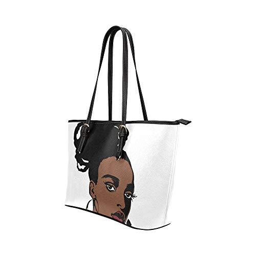 Handväskor kedja konst färgglad Afrika skönhet flicka läder handväskor väska orsaksala handväskor dragkedja axel organiserare för damer flickor kvinnor dragkedja axelväska