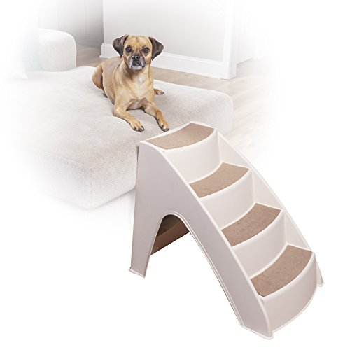 Folding Dog Stairs Puppy Cat Pet Steps Portable Tall High Bed Car Ladder  Ramp