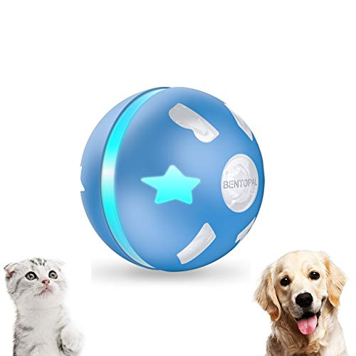 PetDroid Interactive Dog/Cats Ball Toys,Durable Motion Activated Automatic Rolling Ball Toys for Puppy/Small/Medium Dogs,USB Rechargeable (Blue)(Deep Blue)
