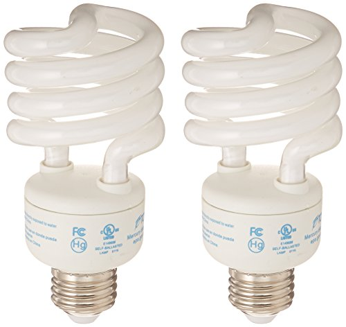 TCP Energy Saving Odor Ending Fresh2 Light Bulbs, Spiral CFL, Uses 23 Watts to Generate 100 Watts, Soft White 2700K (2 Pack)