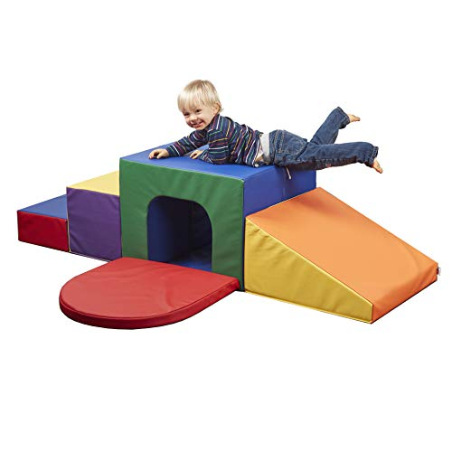 ECR4Kids SoftZone Single Tunnel Maze - Beginner Toddler Climber for Safe Active Play - Fun Early Development Obstacle Toy