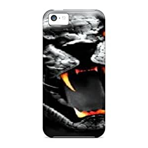 For CaroleSignorile Iphone Protective Cases, High Quality For Iphone 5c Tiger Skin Cases Covers