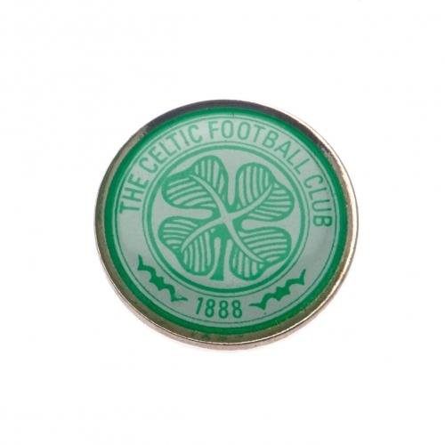 Celtic F.C. Badge- metal badge- enamel finish- stud fix- approx 20mm x 20mm- on a backing card- official licensed product - Metal Studs Enamel