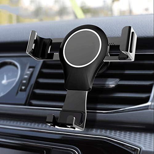 金属の車の電話ホルダー、車の換気重力の携帯電話ホルダー、iPhone用XR/XS/X / 8/7/6 /注9 /注8 / S9 / S8プラス/ Huawei Mate20 / etcスマートフォン、自動ロック車の電話ホルダー (色 : B)