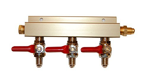 (Co2 Distribution Manifold - MFL (Threaded) Connections (3-way))