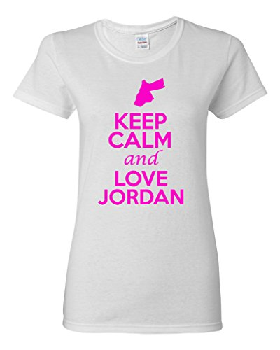 Ladies Keep Calm And Love Jordan Country T-Shirt Tee