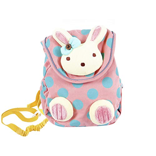 Little Kisses Baby Wash - Labebe Toddler Backpack with Harness, Pink Backpack with Bunny for Kid of 1-3 Years, Anti-Lost Backpack with Anti-Lost Leash/Toddler Girl Backpack/Snack Bag Kid/Harness Backpack/Baby Girl Bag