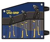 IRWIN Vise-Grip 3-Piece Groove Lock Plier Set (Includes 8'' Groove Lock Plier, 10'' Groove Lock Plier, 12'' Groove Lock Plier And Kit Bag) - 6 Each/Case