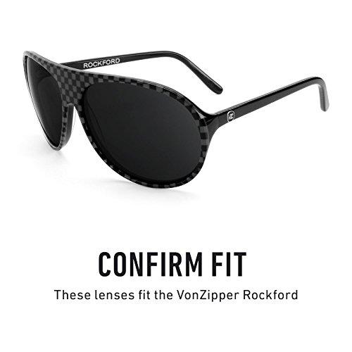 Verres de rechange pour Von Zipper Rockford — Plusieurs options Noir Chrome MirrorShield® - Polarisés