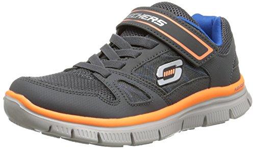 Skechers Flex Advantage 95526L, Zapatillas Deportivos, Niños Gris (Charcoal Orange)