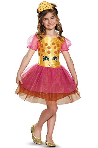 Disguise Kookie Cookie Classic Shopkins The Licensing Shop Costume, Medium/7-8 (Halloween Costumes Girls)