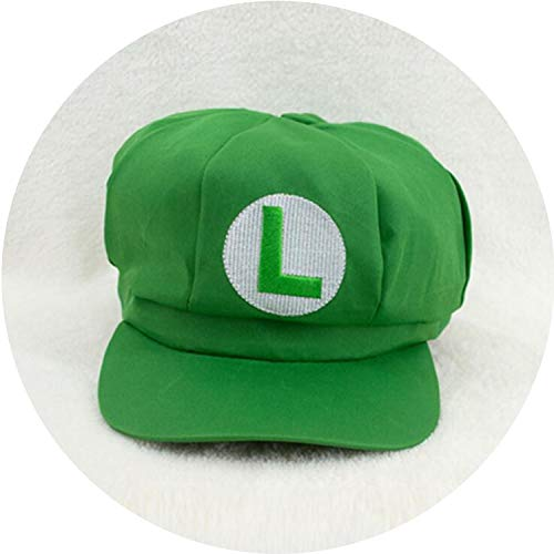 Game Super Mario Cosplay Hat Cap Luigi Bros Yoshi Wario Waluigi Hats Carnival Party Costumes Prop,Green ()