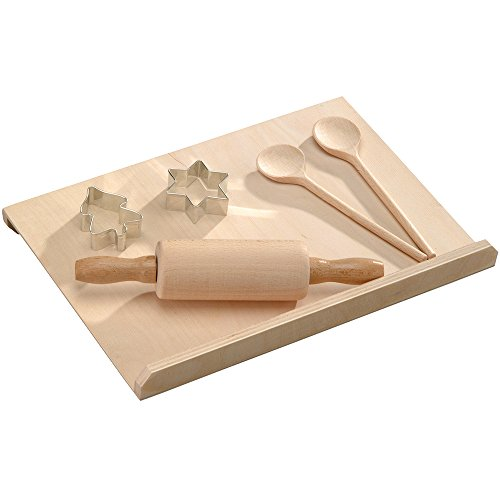Kesper 69125 Kids Baking Set Of Beech Wood, Brown