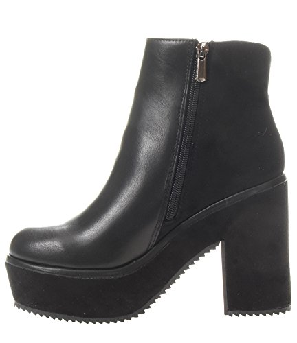 Zip Plateaux Heels Boots Nero 010 I17 Noir Woman Ankle CAF Boot GA925 Ankle Black w8H41S