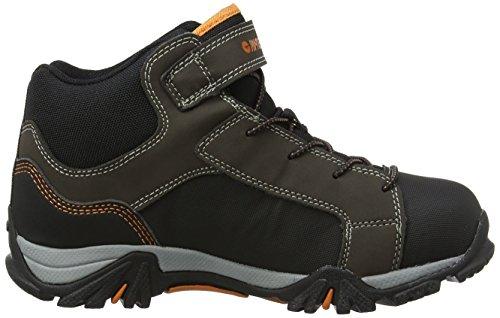 Hi-Tec Trail Ox Mid Waterproof Junior, Botas de Senderismo Unisex Niños Marrón (Dk Chocolate/black/burnt Orange)