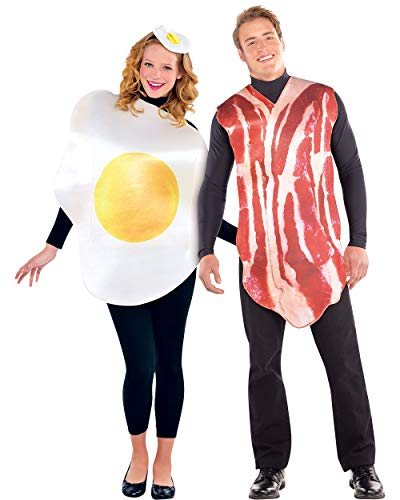 AMSCAN Bacon and Egg Halloween Costume for Adults, Standard, with Included Accessories -
