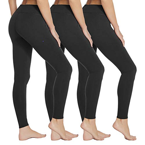 YOLIX High Waisted Leggings for Women - Tummy Control & Soft Opaque Stretchy Tights for Cycling, Workout, Daily - Regular & Plus Size