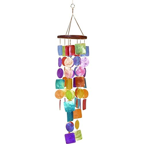 Bellaa 22890 Capiz Wind Chime Big 26