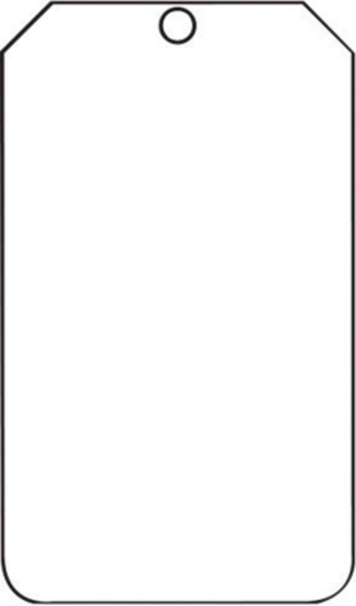 Accuform Signs 5 3/4'' X 3 1/4'' White 10 mil PF-Cardstock Blank Tag With 3/8'' Plain Hole (25 Per Pack)