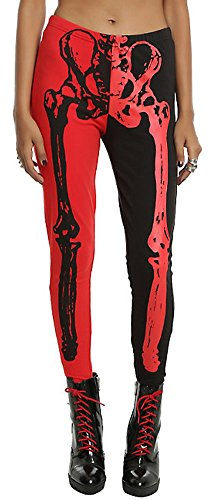 Halloween Women Printed Cosplay Horror Bodycon Scary Party Wear Pants Costumes Legging Red Skulls M (Halloween Costumes With Red Pants)