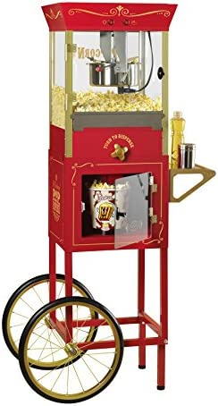 Nostalgia CCP810 59-Inch Tall Commercial 8-Ounce Kettle Popcorn Dispensing Cart