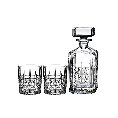 Marquis By Waterford Brady Decanter and Double Old Fashion Set - Four Waterford