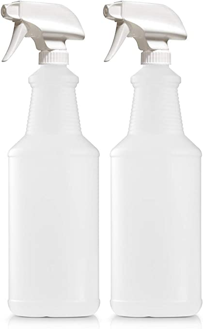 Plastic Spray Bottles 32 oz Leak Proof Water Fine Mist Sprayer Empty Bottle for Cleaning Solutions Auto Detailing Plants Bathroom and Kitchen 3 Pack