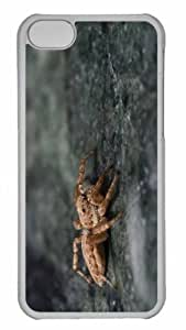 Customized iphone 5C PC Transparent Case - Spider 16 Personalized Cover