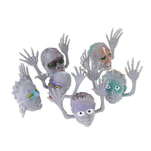 Beioust 6Pcs/Set Scary Ghost Style Finger Puppet Children