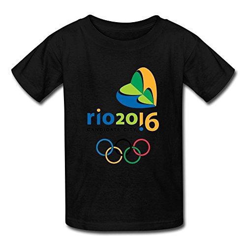 LLangla Kid's Rio De Janeiro 2016 Olympic Bid Logo T Shirt L