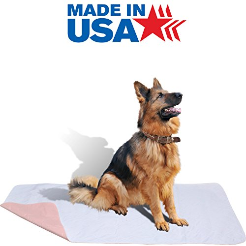36 x 72 - XXL Big Size Soft Premium Brushed Polyester Waterproof Reusable / Quilted Washable Large Dog / Puppy Training Travel Pee Pads - Pee Pads Reusable
