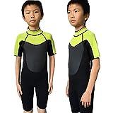 Realon Wetsuit Kids 3mm Swimwear Snorkeling Suit Boys Surfing Shortie Jumpsuit