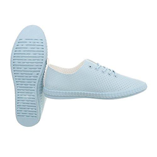 1838 Da Sneaker Low Sneakers Scarpe Lumière Piatto Ital Donna 5 design Bleue 1wnRvqxEO