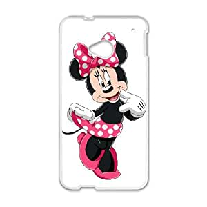 HTC One M7 Cell Phone Case White Disney Mickey Mouse Minnie Mouse YR098346