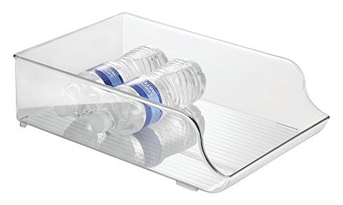 mDesign Kitchen, Pantry, Refrigerator Storage Container for Water Bottles - Clear