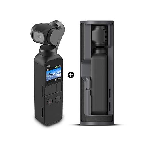 DJI Osmo Pocket Action Cameras 4K with DJI Osmo Charging Case Black Bundle Kit