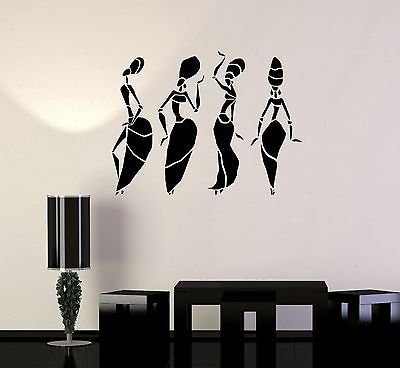 Vinyl Wall Decal African Women Dance Abstract Art Room Decor Stickers VS262