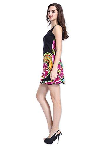 Coton Du Monde-vestido de DANIELA, color negro Multicolor