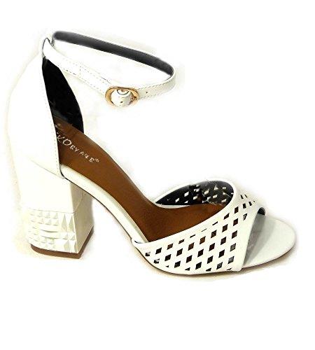 Sandales SKO'S 26583 11 femme pour White qA0CAd