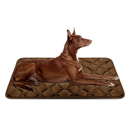 Hero Dog Large Dog Bed Mat 42 Inch Crate Pad Anti Slip Mattress Washable for Pets Sleeping (Coffee L) ()