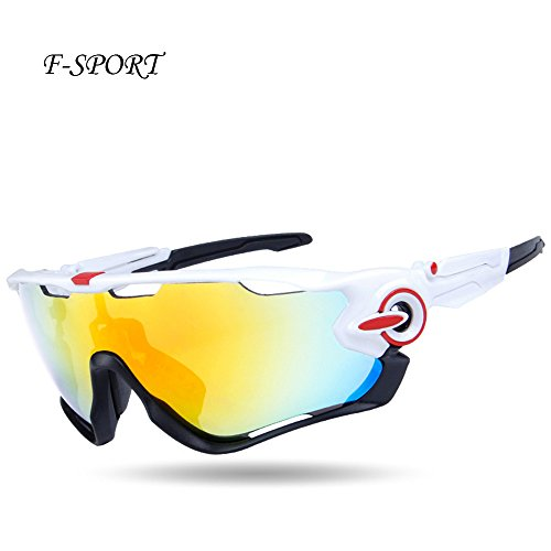 F-sport 2016 Newest Outdoor Sports Fashion Sunglasses.Great For Cycling Driving Hiking Skiing or Fishing.Changeable Lenses and Unbreakable High - Guide Fishing Lens Sunglasses Color