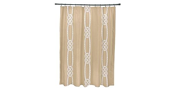 E By Design Scsn413ta9 Tom Foolery Stripe Print Shower Curtain Beige Taupe Home Kitchen