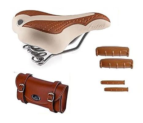 miglior grossista scarpe classiche buona consistenza Sella MONTEGRAPPA con Molle + Manopole + Borsello ECO-PELLE ...