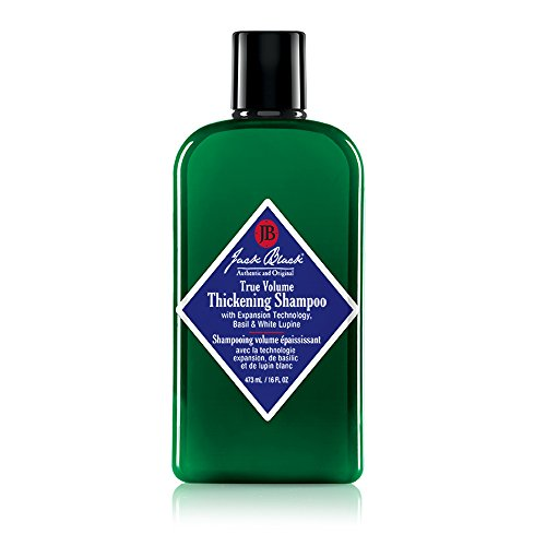 JACK BLACK – True Volume Thickening Shampoo – PureScience Formula, Expansion Technology, Basil & White Lupine, Sulfate-Free Shampoo, Removes Oils, Dirt, and Product Build-Up, Helps Thicken Hair, 16 oz