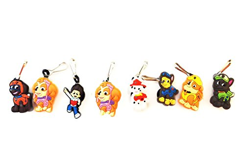 [AVIRGO 8 pcs Zipper Pull / Zip pull Charms Set # 81-2 by Hermes] (Character Photo Charms)