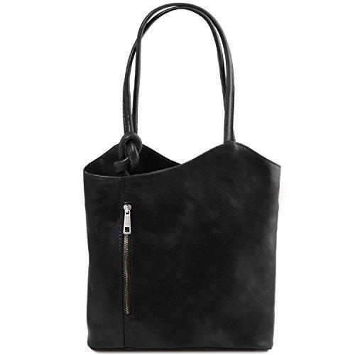 La Cantidad De Línea Tuscany Leather Patty Borsa donna in pelle convertibile a zaino Testa di Moro Nero Honorario Bajo Precio De Envío Precio Barato 700Gj