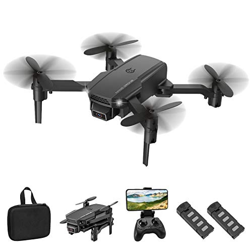 Eilsorrn Foldable Mini Drone with 4K HD Camera for Kids Adults WiFi FPV RC Quadcopter with Trajectory Flight,3D Flips…